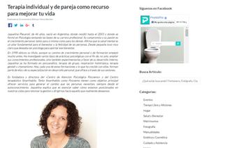 Entrevista Revista Prontopro - Psicoterapia individual y terapia de pareja